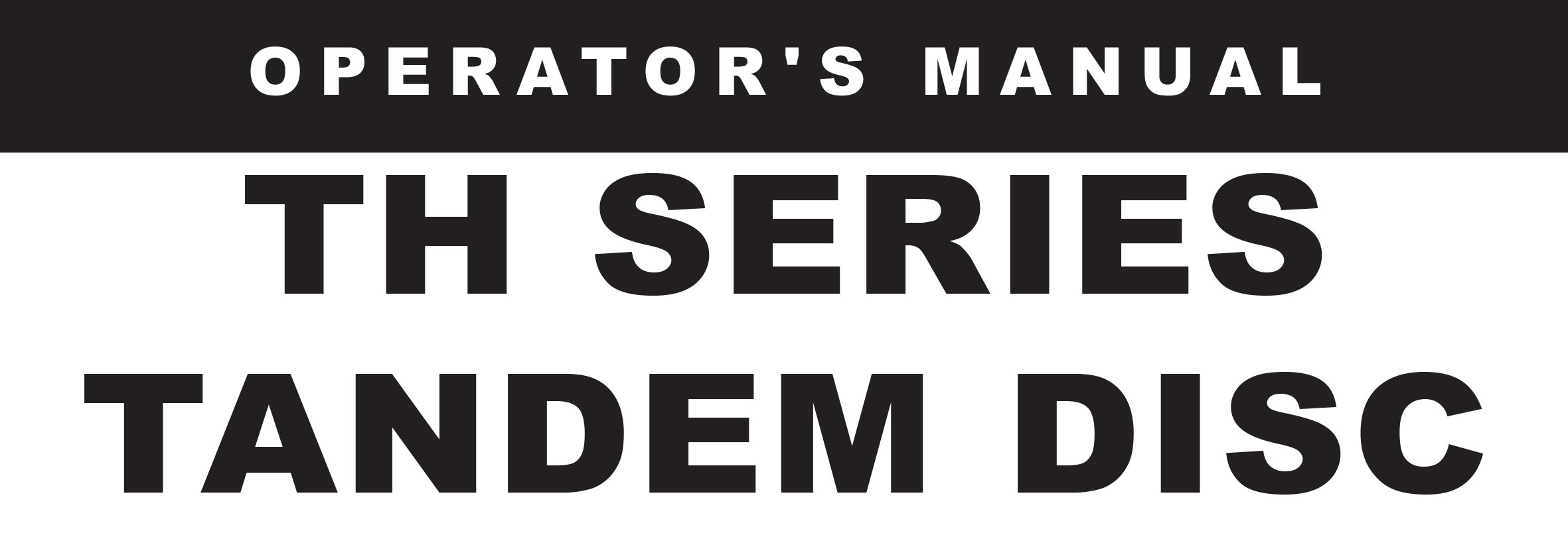 TH Series Owners Manuals
