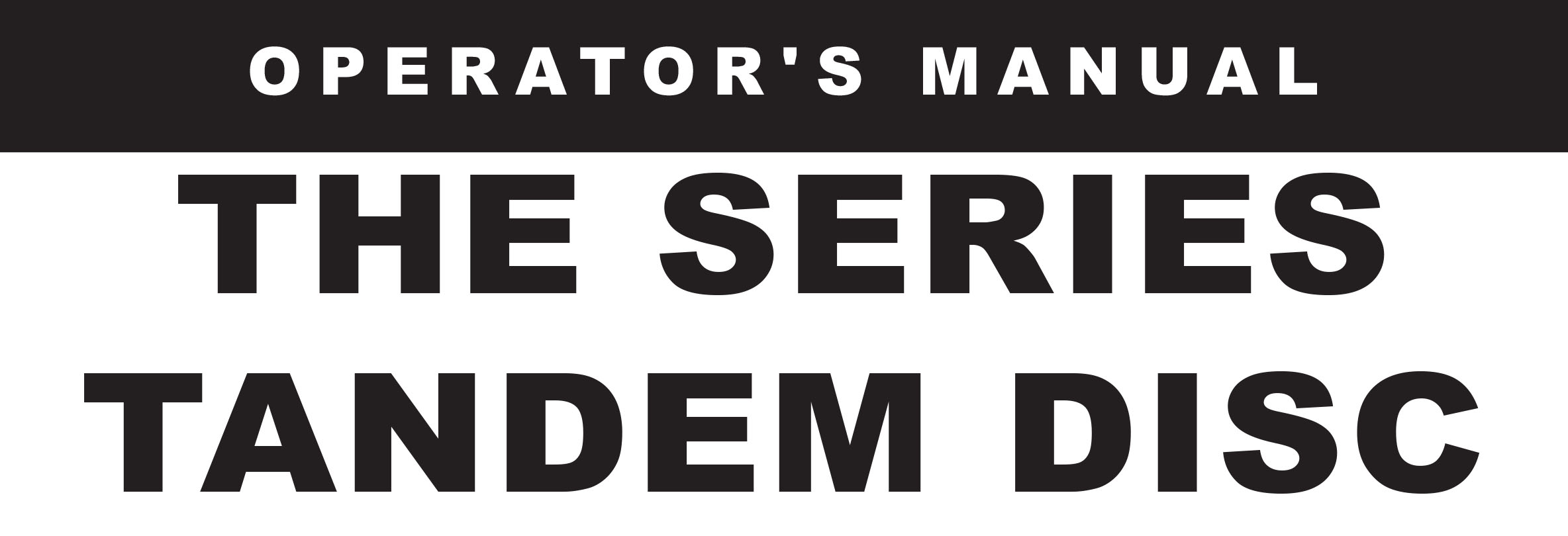 THE Series Owners Manual