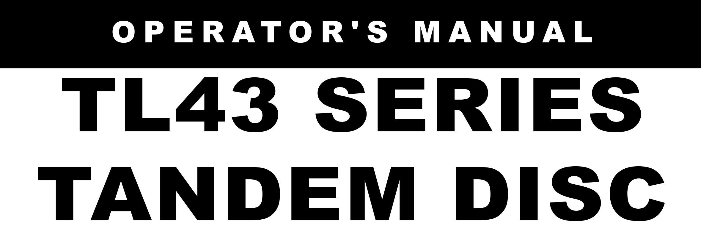 TL43 Series Owners Manual