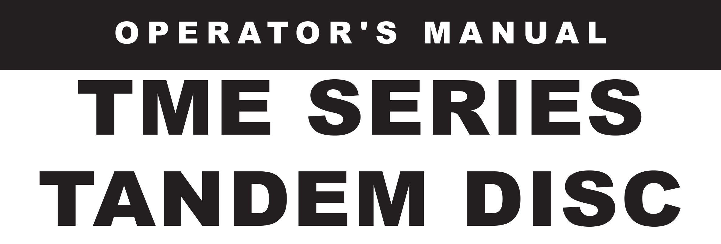 TME Series Owners Manual