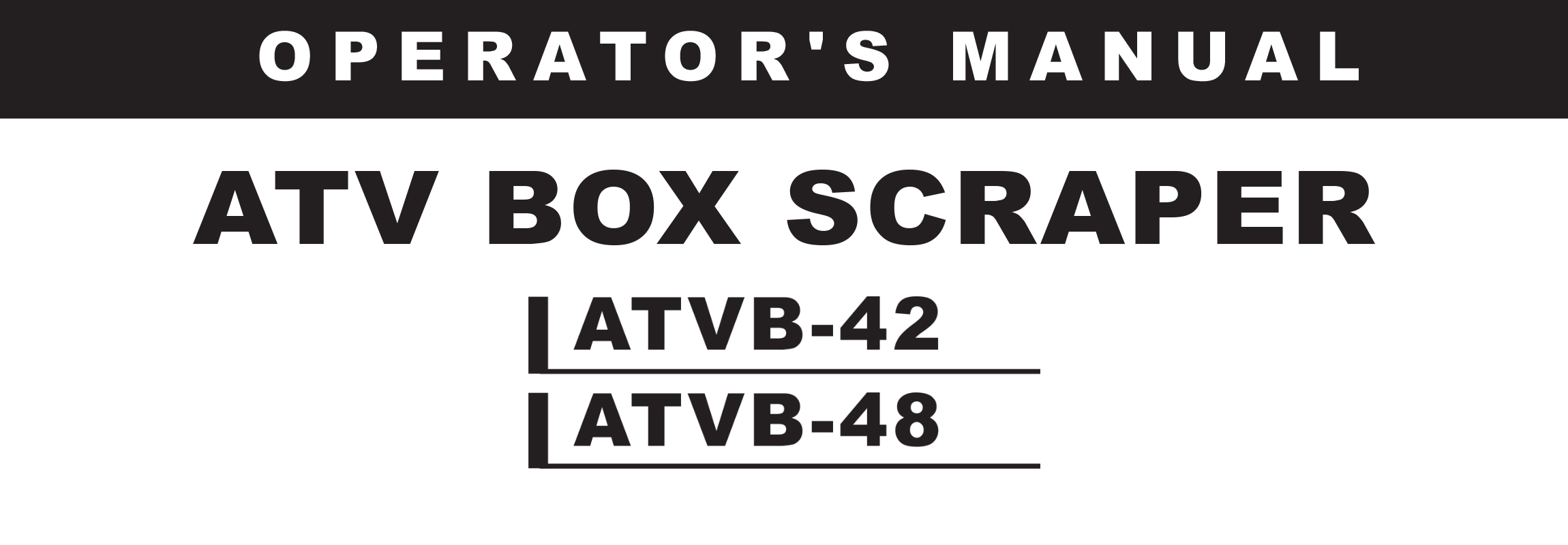 ATVB Series Owners Manual
