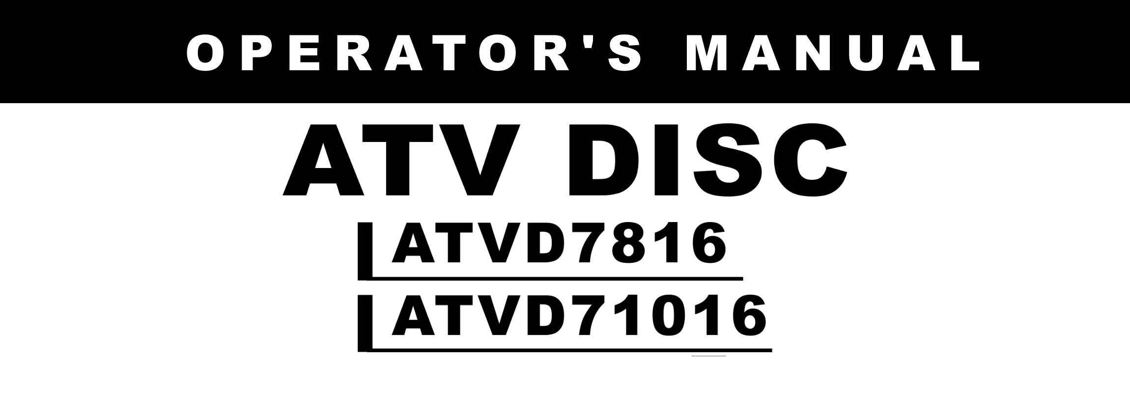 ATVD Series1 Owners Manual
