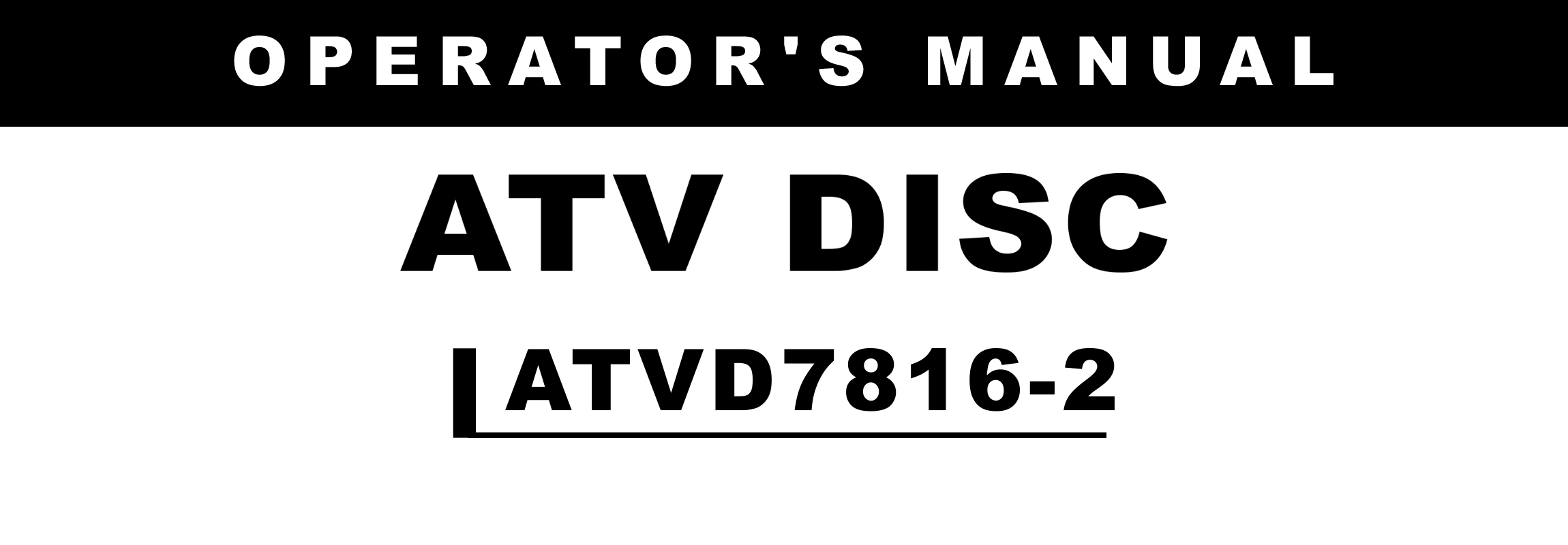 ATVD Series2 Owners Manual