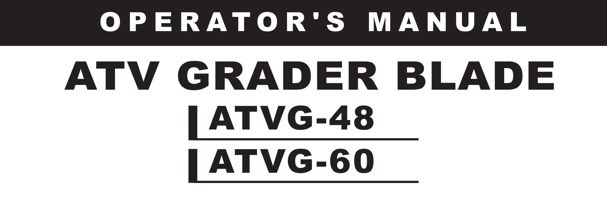 ATVG Series Owners Manual