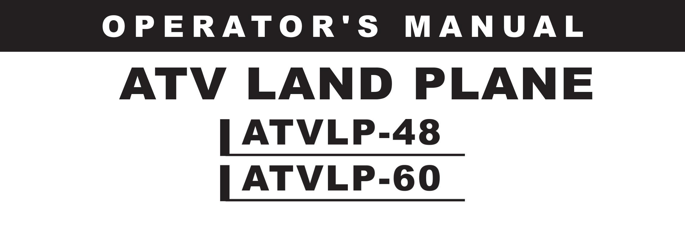 ATVLP Series Owners Manual