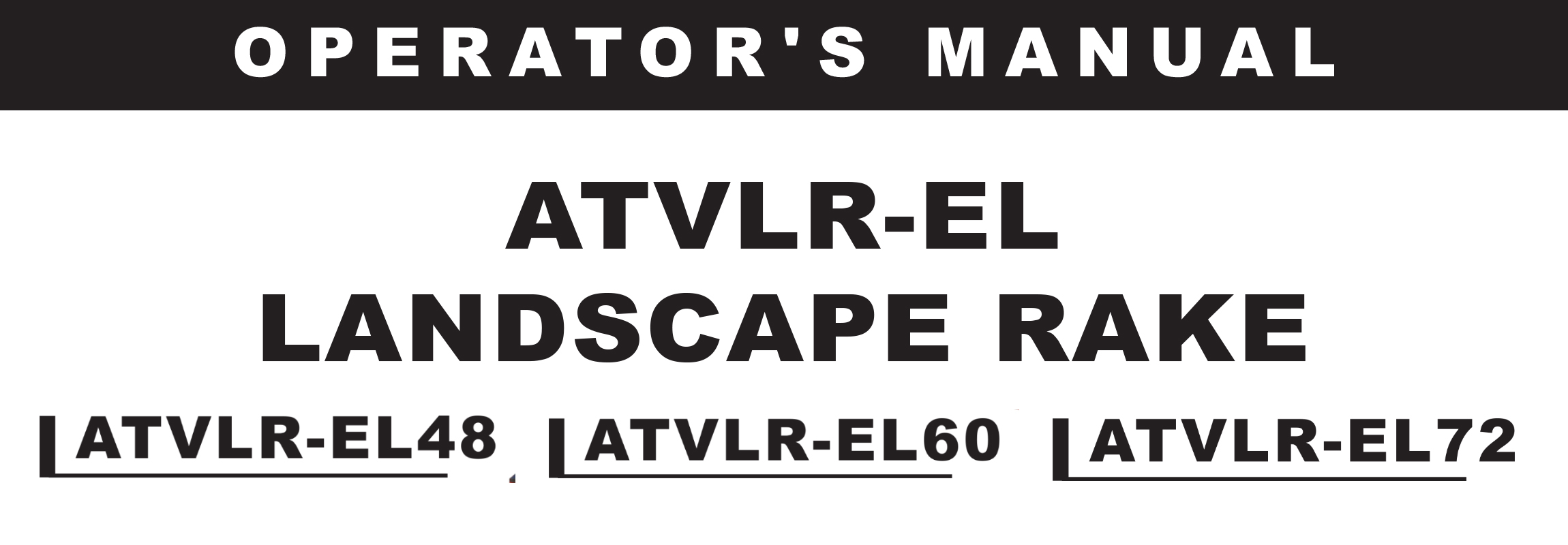 ATVLR-EL Series Owners Manual