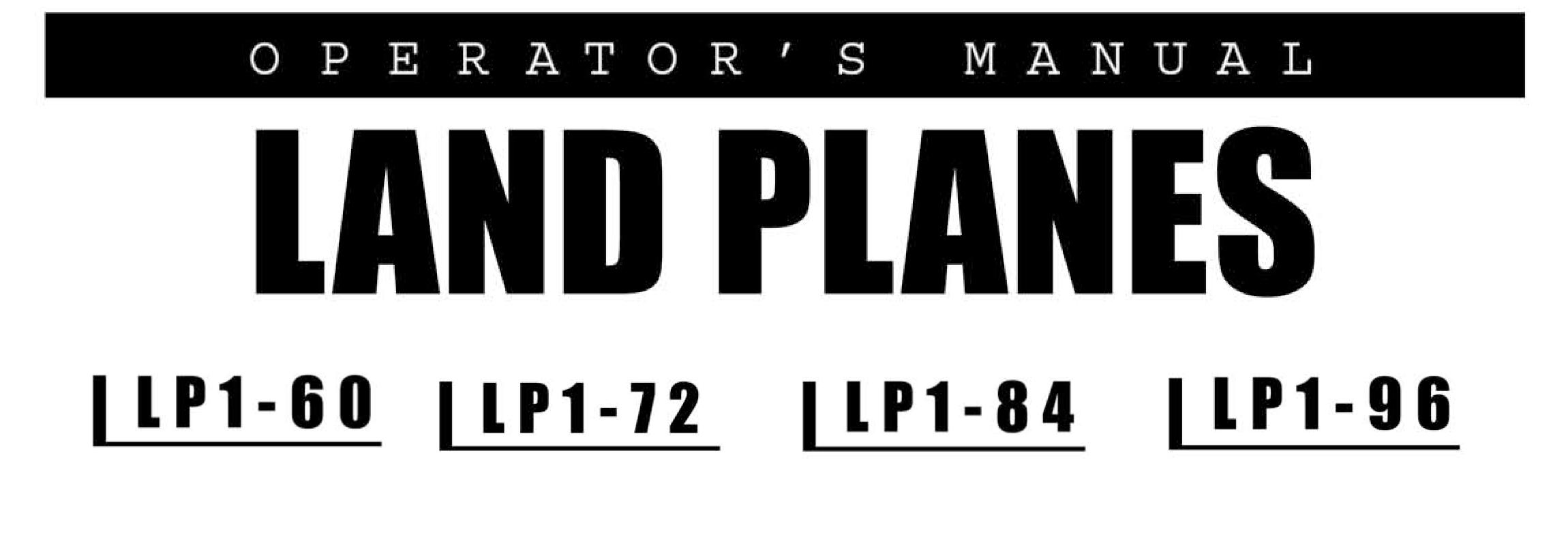 LP1 Series Owners Manual