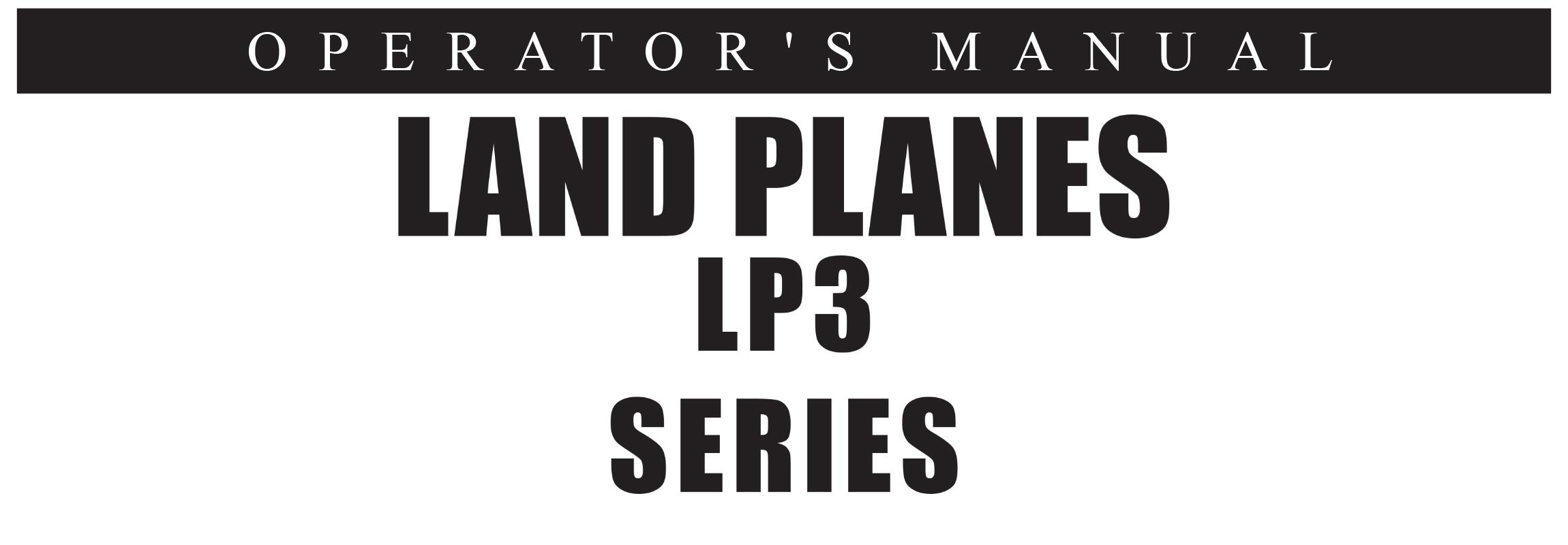 LP3 Series Owners Manual