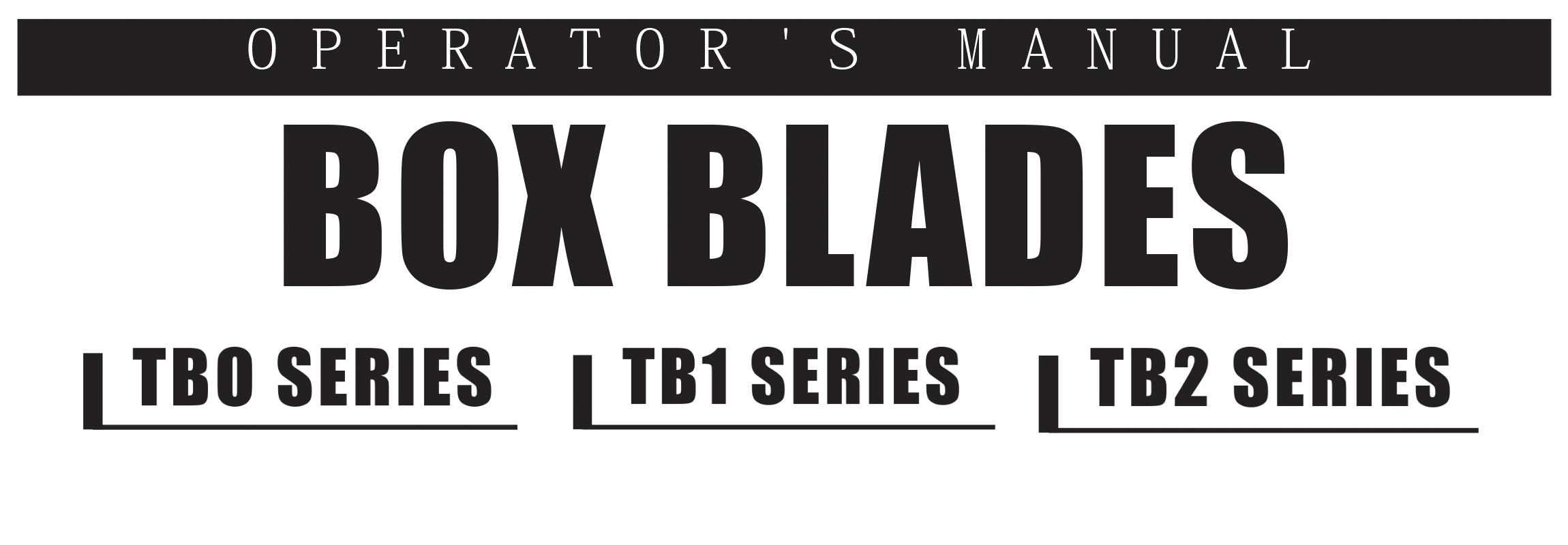 TB Series Owners Manual