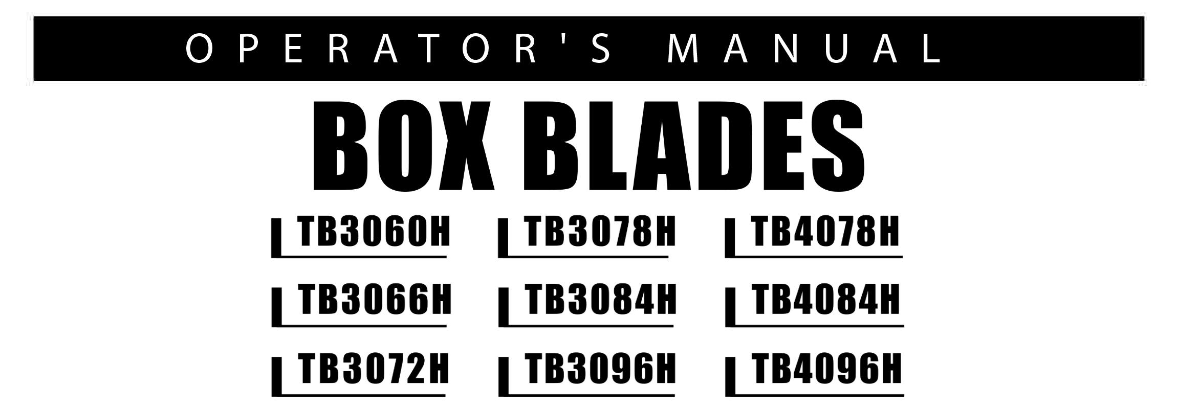 TB30-TB40 Series Owners Manual