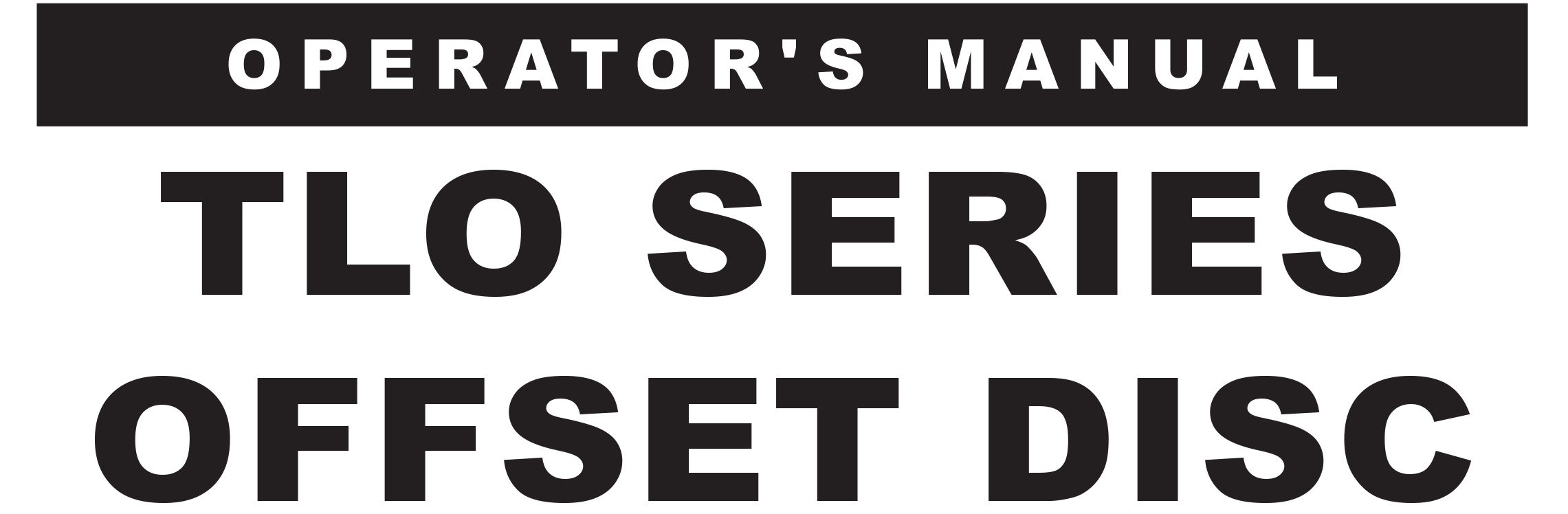 TLO Series Owners Manual