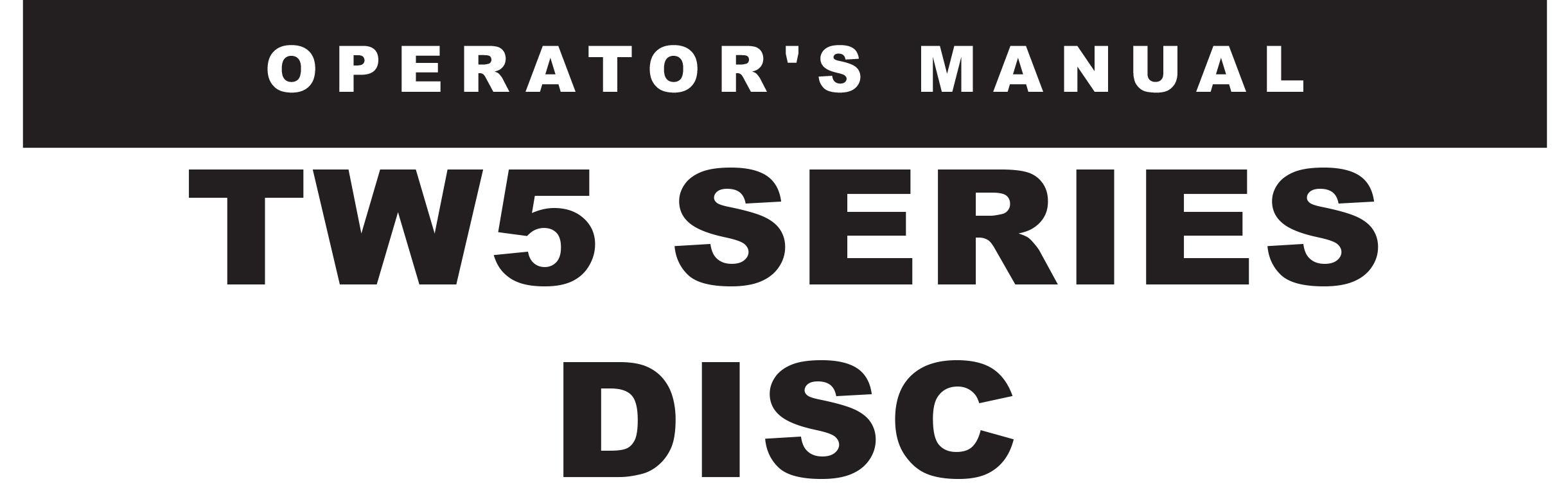 TW5 Series Owners Manual